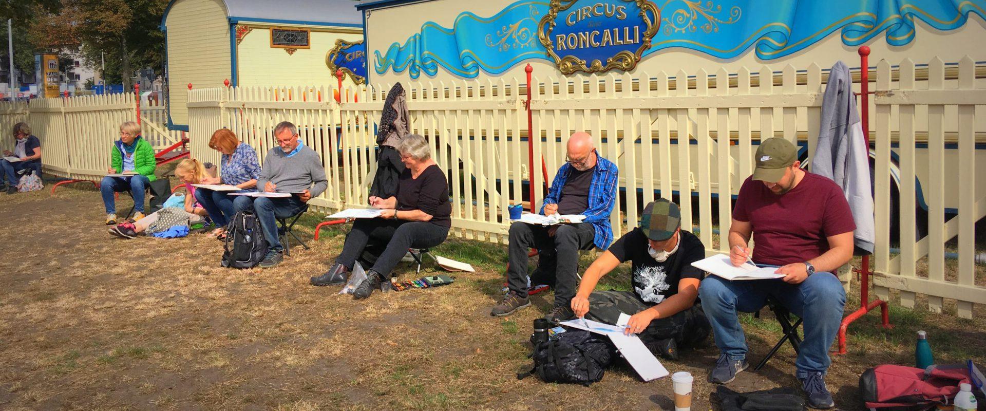 Zeichnen im Circus Roncalli 2019